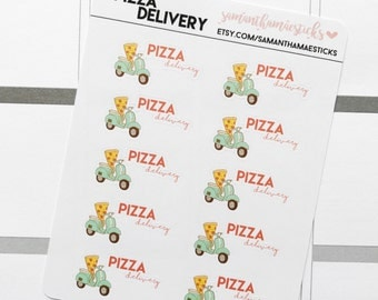 Pizza Delivery for use with Erin Condren Lifeplanner™ Happy Planner Stickers
