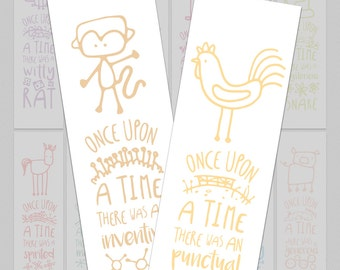 Choose Any 2 Bookmarks - Chinese Zodiac Gift Set