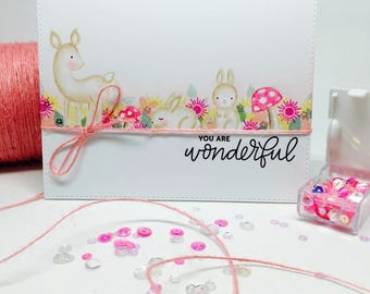 Handmade Card - You Are Wonderful