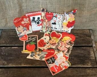 Vintage Valentine Cards, Antique Child's Valentine Day Cards, Vintage Valentine Ephemera, Vintage Paper Craft