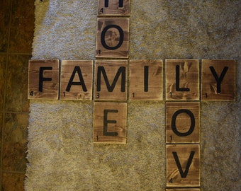 Scrabble Board FAMILY * HOME * LOVE