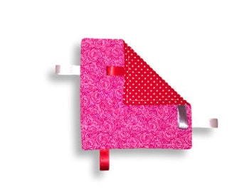 Crinkle Paper <<Be My Valentine>> Baby/Toddler/Baby Toy/Noise Maker/Tag Toy/Sensory Toy/Pink//Red//Rose//Flower//White//Ribbon
