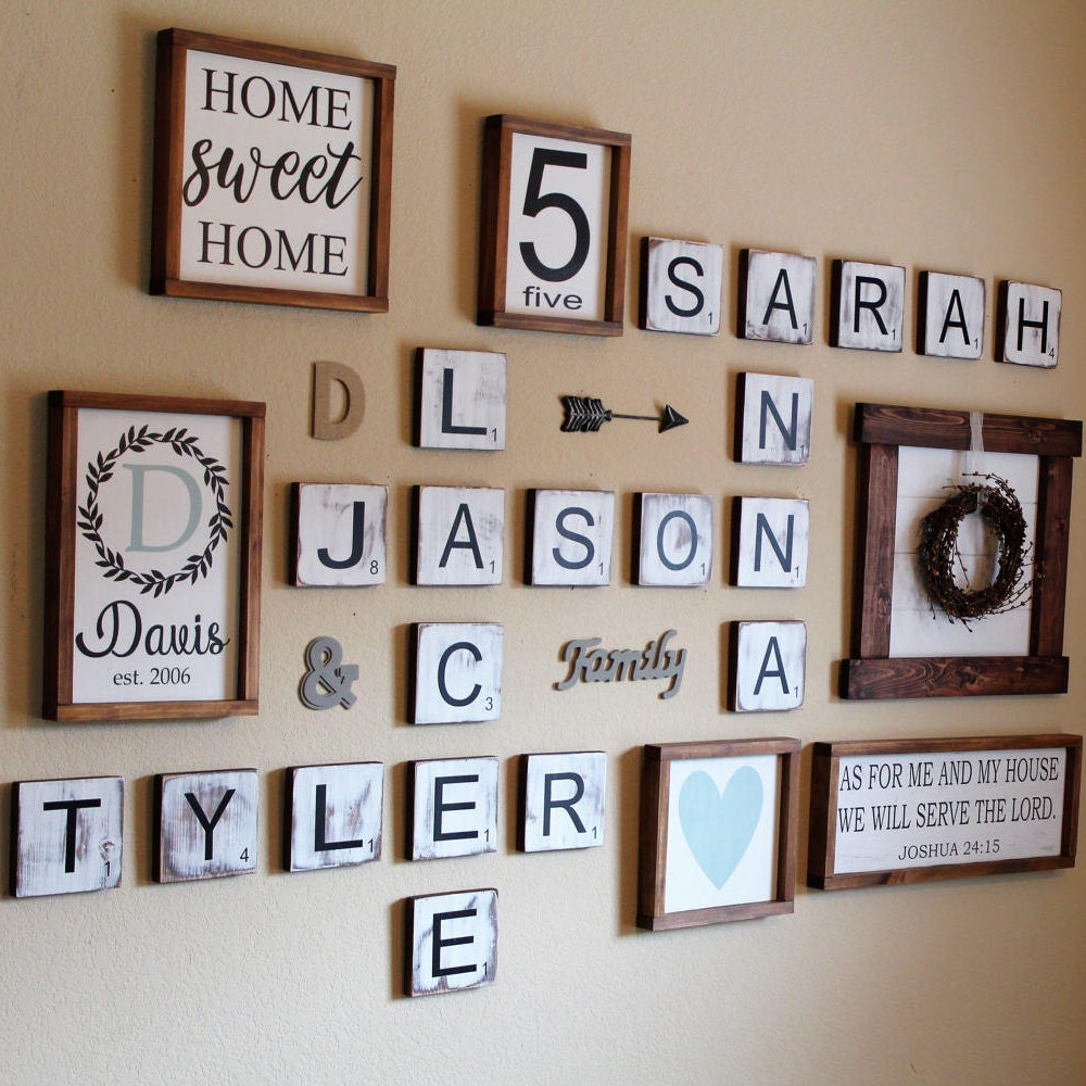 scrabble letter decor 5 5 large scrabble tiles scrabble wall gallery 24770
