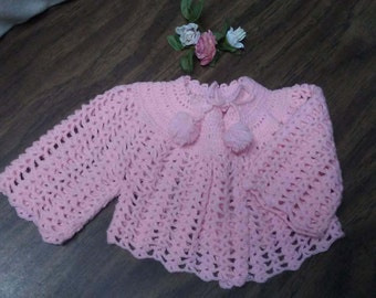 Pink LACY BABY SWEATER,Vintage