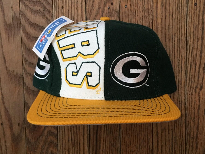 c51f16c81e2 Vintage 90s Deadstock Green Bay Packers NFL Snapback Hat Baseball ...