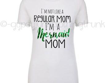 Mermaid Mom TShirt, Mermaid Mom Shirt, Cool Mom Shirt, Mermaid Mom Top, Trendy Mom Shirts, Mermaid Shirt, Mom Boss Shirt, Mother's Day