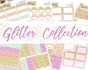 Glitter Collection | GC | Planner Stickers | Traveler's Notebook Stickers |