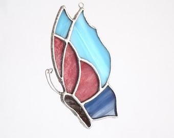 Butterfly Ornament Handmade Suncatcher Butterfly Gift, Gift Under 20, Stained Glass Garden Art Butterfly present, Gardener Gift