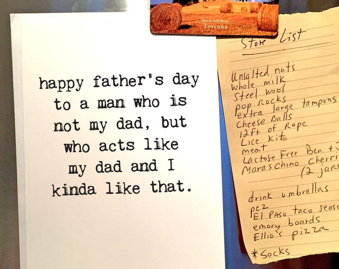Featured listing image: Father's Day Card, Like a Dad, Not My Dad, Mentor, Father-In-Law, Funny Father's Day, Blank Inside, Work Dad, Chucklcards, Wholesale