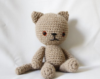 MADE TO ORDER - Cat, Crochet Cat, Soft Cat Toy, Crochet Cat, Soft Toy, Toy Cat, Handmade Crochet Cat, Amigurumi Cat