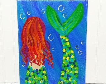 Mermaid Canvas Painting