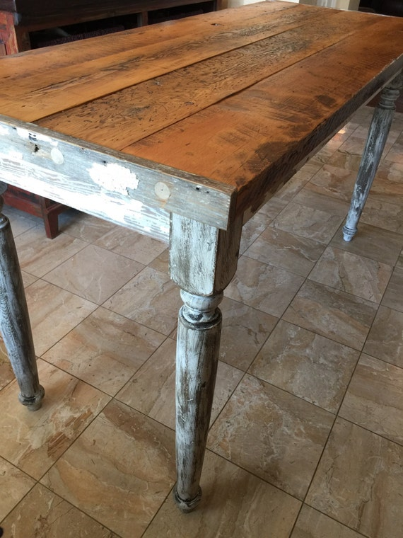 Classic counter height table 66 farmhouse table for Farmhouse counter height table