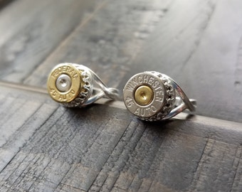Handmade 45 Caliber Bullet Rings Adjustable with or without Swarovski Crystals Bullet Jewelry for the Country Girl