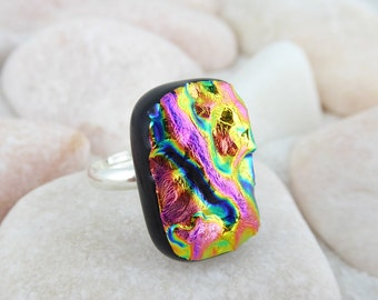 Fused Glass Dichroic Ring