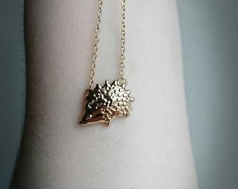 Dainty Hedgehog Necklace Hedgehog Pendant Delicate Necklace Gift For Her Hedgehog Gift Girlfriend Gift Animal Lover Gift Vegan Gift Animal