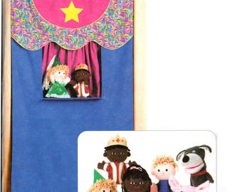 05 Kwik Sew 3322 Puppet Theater and Puppets, Punch and Judy Style Kids' Theater, Uncut, Factory Folded, Sewing Pattern