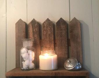 Vintage Country Cottage Rustic Primitive Display Shelf