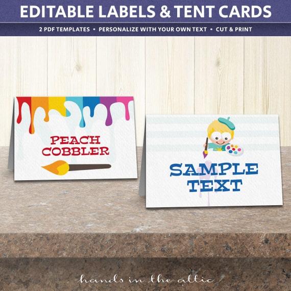 Printable Party Kit Templates, Art Party Birthday Supplies
