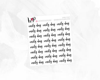 Early Day | Clear Matte Glossy Planner Stickers