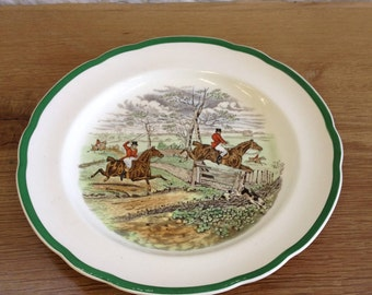 Vintage Copeland Spode pottery J. F. Herring hunting series 'Off To Draw' pattern plate - In great condition