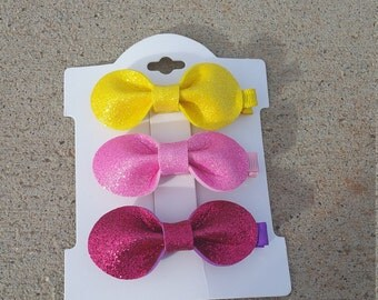 Glitter Ribbon Kids Hair Bows - Kids Hair Bows - Girls Hair Clip - Hair Bows for Girls - Girls Hair Accessory - Toddler Hair Clips