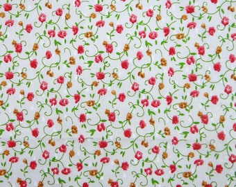 """Indian Fabric, Floral Print, Quilting Fabric, Dress Material, White Fabric, 42"""" Inch Cotton Fabric By The Yard ZBC7539A"""