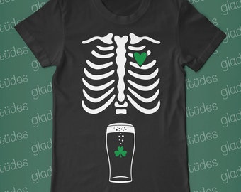 Dad-to-Be St. Patrick's Day Skeleton T-shirt