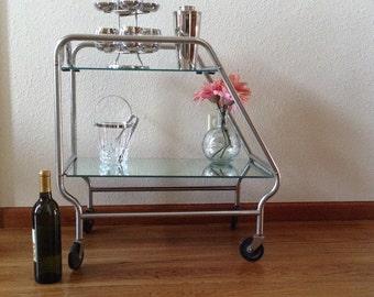 Vintage Mid Century Modern Drink Cart, Bar Cart, Portable Bar