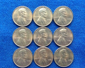 1973 Lincoln Uncirculated Pennies Coin Collecting US Old Coins