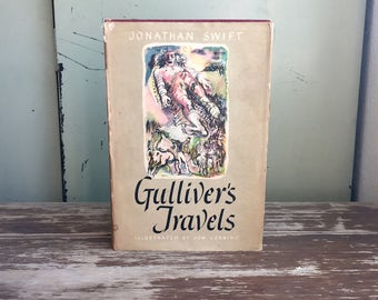 Gulliver's Travels by Jonathan Swift; Children's Storybook; Classic Book; Vintage Book; Illustrated Children's Book