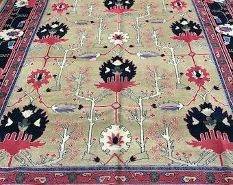 "9'8"" x 12'1"" Persian Tabriz Agra Design Oriental Rug - Hand Made - 100% Wool"