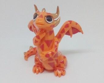 Polymer Clay Dragon , Cute Dragon Figurine , Cute Polymer Clay, Baby dragon, Fire dragon