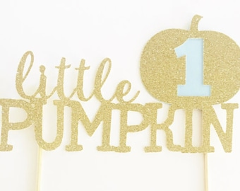 Little Pumpkin Cake Topper, First Birthday Cake Topper, Little Pumpkin Birthday, Smash Cake Topper, One Pumpkin Cake Topper