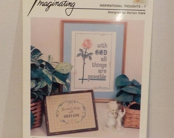 Inspirational Thoughts 2 Cross Stitch Patterns God Jesus By Zweigart