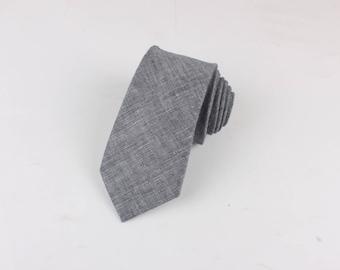 "Retro Skinny Tie 2.36""| floral tie | flower tie | skinny tie | wedding tie | wedding ideas | ideas | groom | Gray | grey | grey tie"