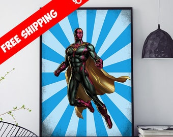 Marvel Wall Art marvel wall art | etsy