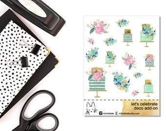 Let's Celebrate Add-On Sticker! Perfect for the Erin Condren Life Planner!