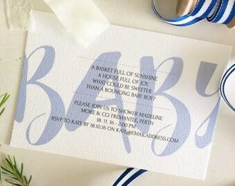 Baby Shower Invitation, Baby Boy Shower Invitation, Boy Baby Shower, Baby Shower Gift, Printable Boy Baby Shower, Baby Shower Invite