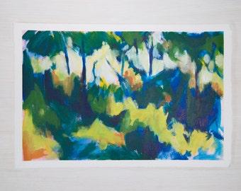 Original Painting on Paper - Landscape