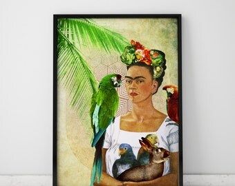 Frida Kahlo Art Wall Art Prints Boho Art Decor Vintage Decor Prints Frida Kahlo Poster Woman Art Prints