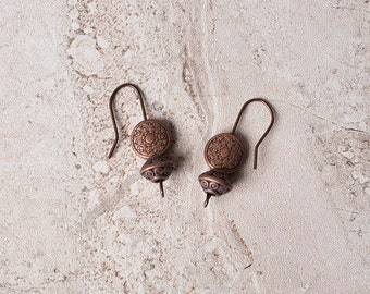 Simple Copper Tribal Earrings