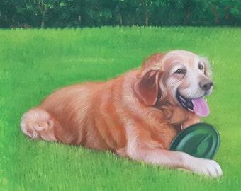 Custom Pet Portrait Custom Dog Portrait from Photo. Dog Lover Gift Custom Pet Painting. Cat Portrait Original Painting Personalized Pet Gift