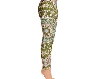 Mid Rise Ladies Yoga Leggings - Yoga Pants, Yoga Print Leggings Tights, Printed Leggings, Fashion Leggings, Womens Stretch Pants