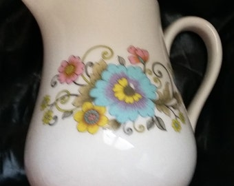 Pillivuyt floral porcelain pitcher