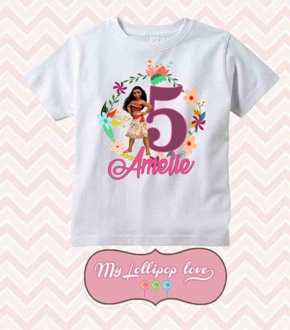 Moana birthday shirt personalized birthday shirt custom name for Baby custom t shirts