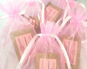 Shower Favors - Pink Shower Favors - Baby Girl Shower Favors - Baby Girl Shower Prize - Organic Soap Gift - Organic Soap Favors