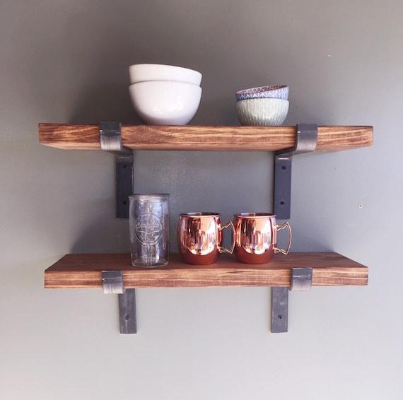 Fixer Upper Style Industrial Floating Shelves 8 Depth