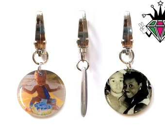 Double-Sided Custom Photo Keychains - 360 Degree Bail - Personalized Photo Pendants - Special Photo Gifts