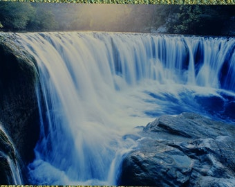 FREE SHIPPING - waterfall landscape aluminum print 12x18- wall decor
