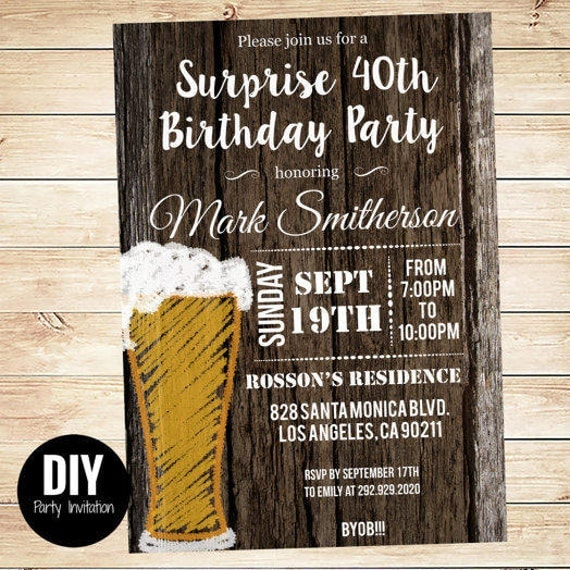 printable downloadable men s surprise birthday party invitations